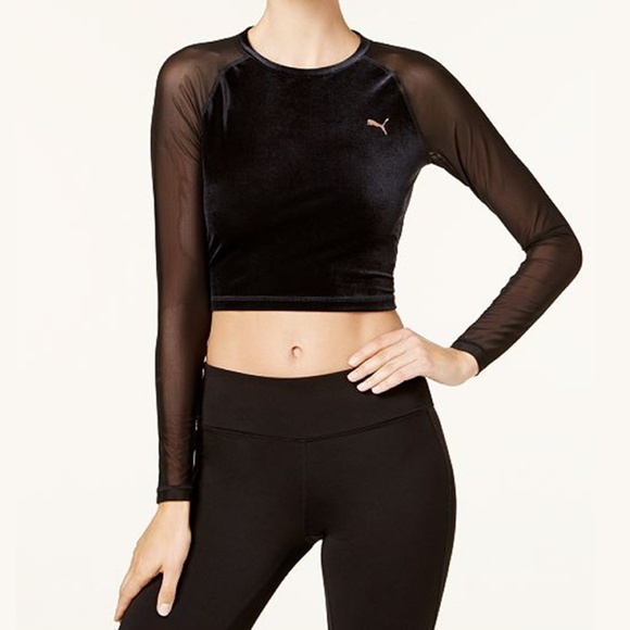 8c308a1342250c Puma Explosive dryCELL Velvet Cropped Top